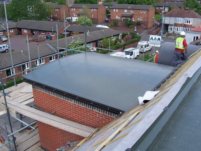 Stairwell Barrel Roof Quality Flat And Fibre Roofing